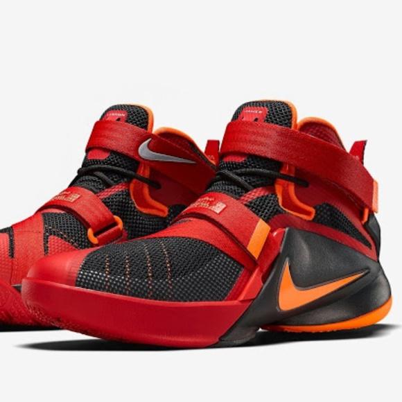 best cheap af79f 45138 Nike LeBron Soldier 9 Black/Red-Orange-Preloved